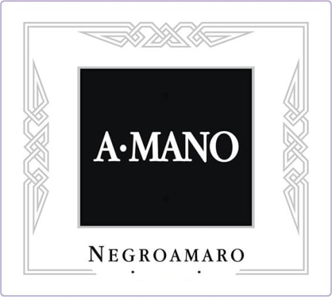A Mano Negroamaro 2017  Front Label