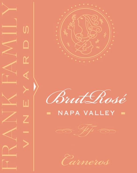 Frank Family Vineyards Brut Rose 2015  Front Label