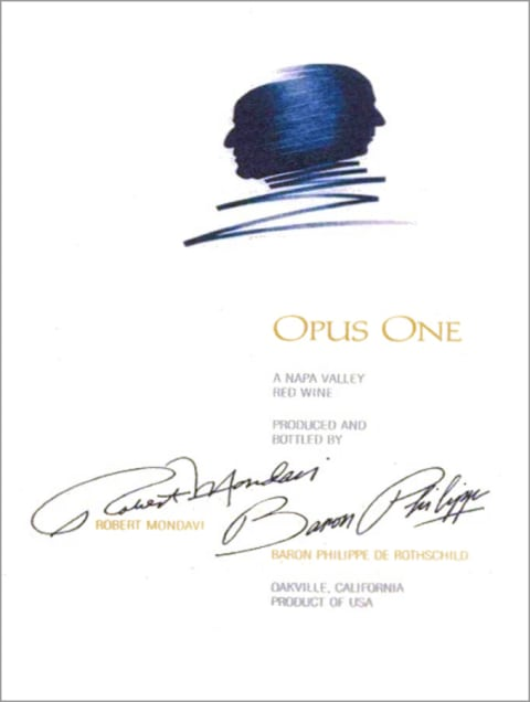 Opus One  2012  Front Label