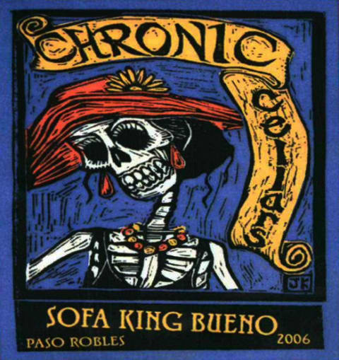 Chronic Cellars Sofa King Bueno Red 2006 Wine Com