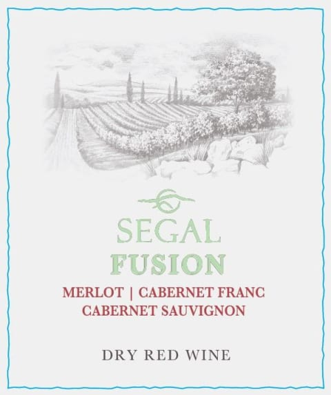 Segal's Fusion Red (OK Kosher) 2016  Front Label