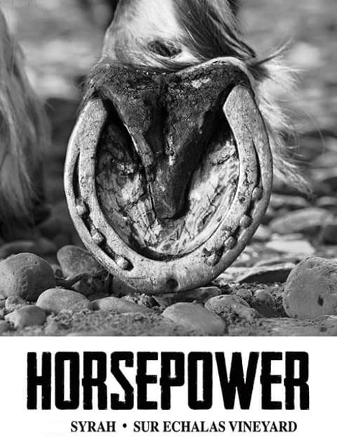 Horsepower Vineyards Sur Echalas Vineyard Syrah 2015 Front Label