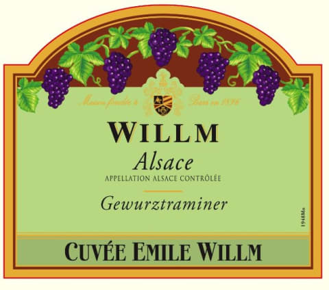 Alsace Willm Cuvee Emile Willm Gewurztraminer 2017  Front Label