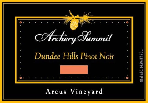 Archery Summit Arcus Pinot Noir 2016  Front Label