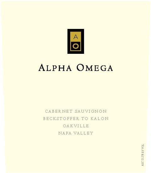 Alpha Omega Beckstoffer To Kalon Vineyard Cabernet Sauvignon 2013 Front Label