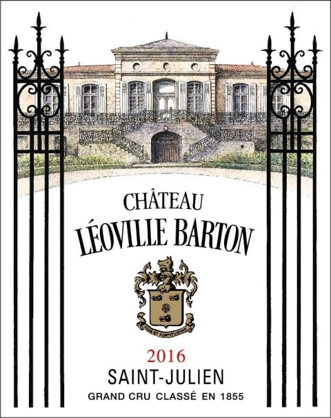 Chateau Leoville Barton (3 Liter Bottle) 2016  Front Label