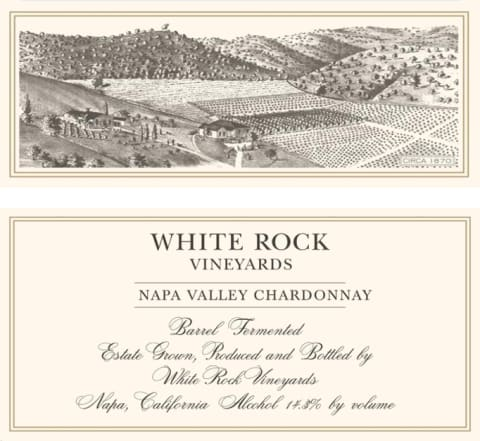 White Rock Vineyards Chardonnay 2016 Front Label