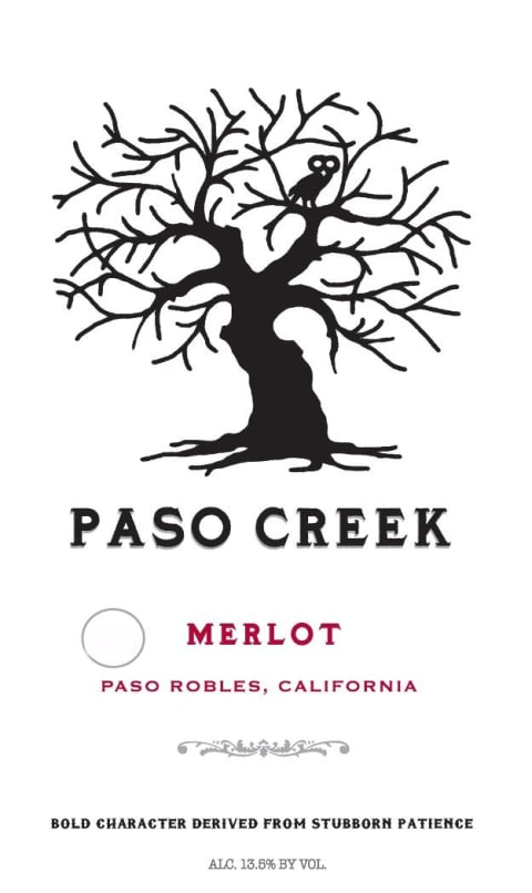 Paso Creek Merlot 2017 Front Label
