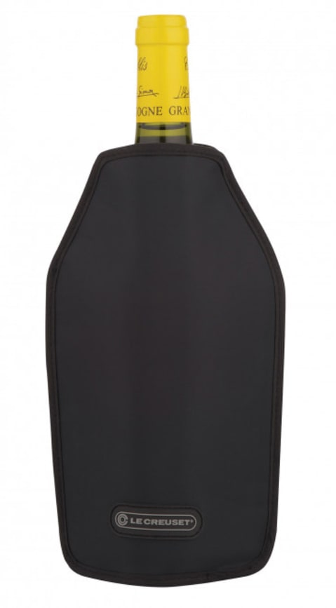 wine.com Le Creuset Wine Cooler Sleeve in Black  Gift Product Image