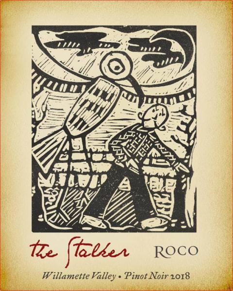Roco The Stalker Pinot Noir 2018  Front Label