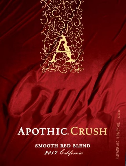 Apothic Crush Red Blend 2017  Front Label
