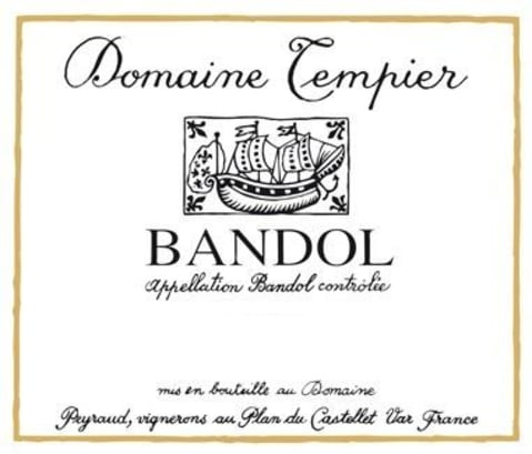 Domaine Tempier Bandol Rouge (375ML half-bottle) 2016 Front Label