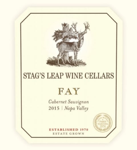 Stag's Leap Wine Cellars Fay Vineyard Cabernet Sauvignon 2015 Front Label
