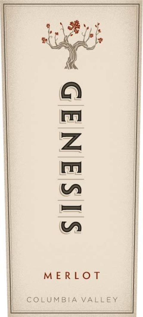 Hogue Genesis Merlot 2015 Front Label
