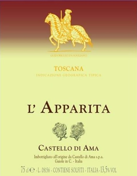 Castello di Ama L'Apparita 2015 Front Label