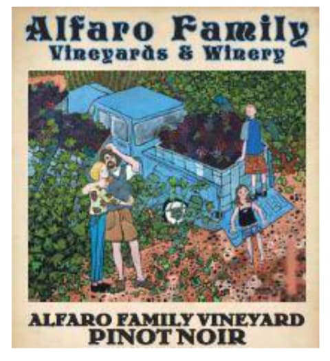 Alfaro Family Estate Pinot Noir 2017  Front Label