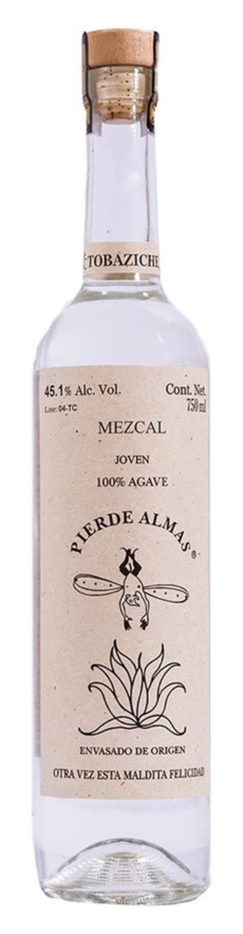 Pierde Almas Tobaziche Mezcal  Front Bottle Shot