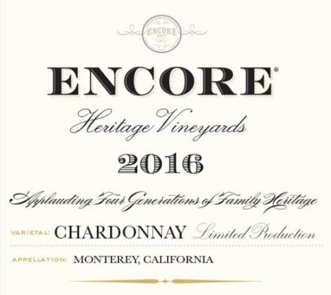 encore 2016 chardonnay