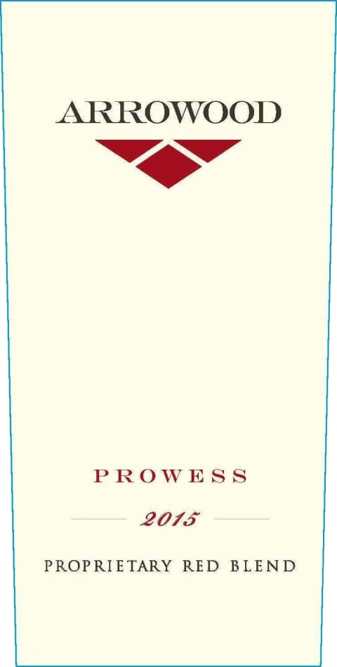 Arrowood Prowess Proprietary Red 2015  Front Label