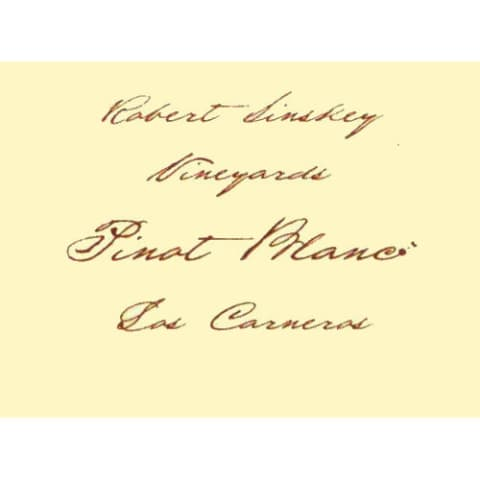 Robert Sinskey Pinot Blanc (375ML half-bottle) 2015  Front Label