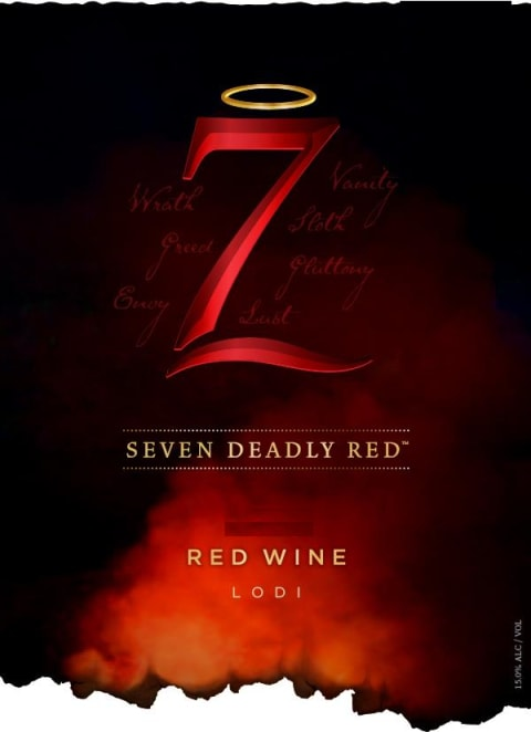 7 Deadly Red 2015 Front Label