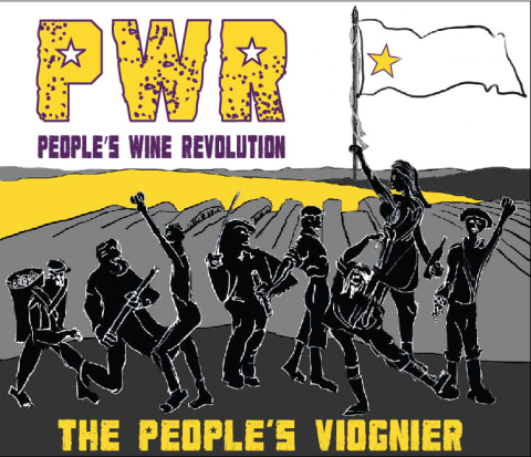People's Wine Revolution Viognier 2015 Front Label