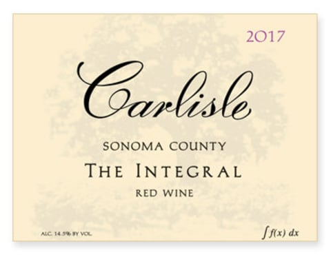 Carlisle Sonoma County The Integral Red 2017  Front Label