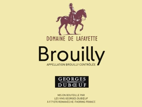 Duboeuf Brouilly Domaine de Lafayette 2016 Front Label