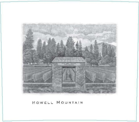 Abreu Vineyards Howell Mountain 2007  Front Label