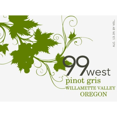 99 West Pinot Gris 2017 Front Label