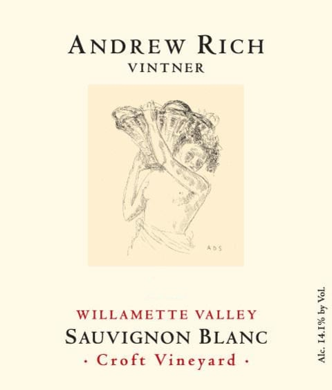 Andrew Rich Croft Vineyard Sauvignon Blanc 2017 Front Label
