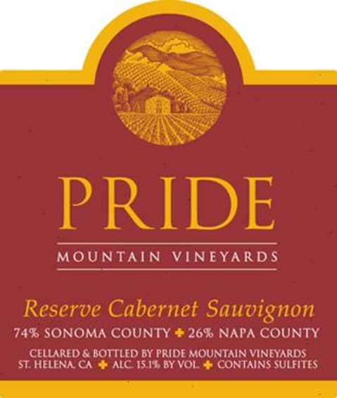 Pride Mountain Vineyards Reserve Cabernet Sauvignon 2007 Front Label