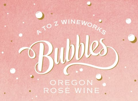 A to Z Rose Bubbles  Front Label