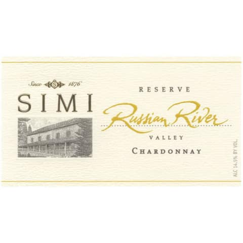 Simi Russian River Reserve Chardonnay 2015  Front Label