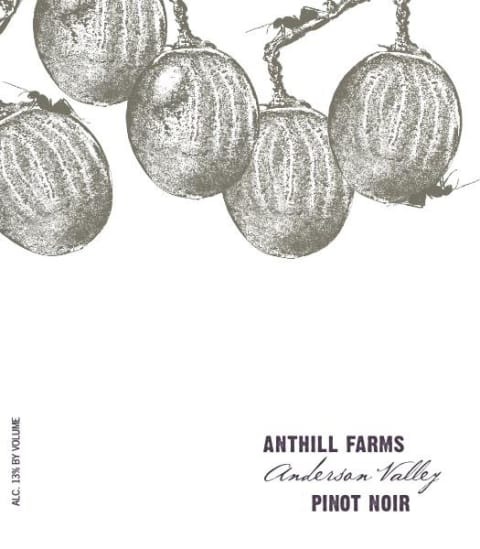 Anthill Farms Anderson Valley Pinot Noir 2018 Front Label