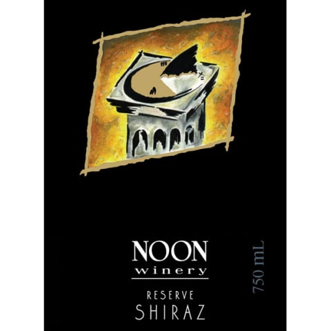 Noon Reserve Shiraz 2016  Front Label