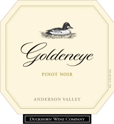 Goldeneye Anderson Valley Pinot Noir 2016 Front Label