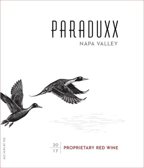 Paraduxx Proprietary Red 2017  Front Label