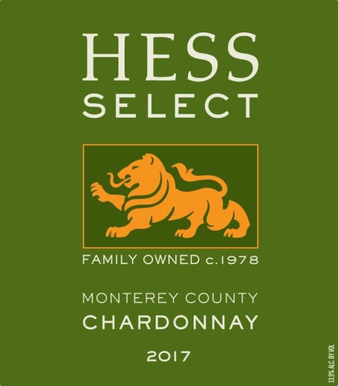 Hess Select Chardonnay 2017 Front Label