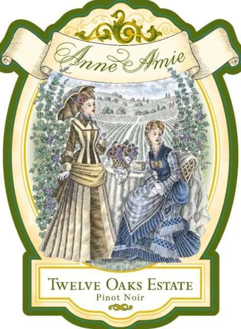Anne Amie Twelve Oaks Estate Pinot Noir 2016  Front Label