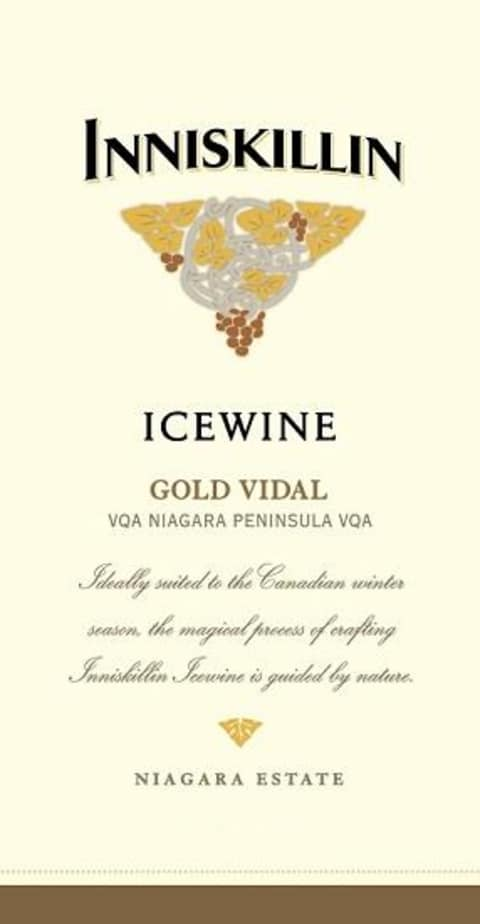 Inniskillin Gold Vidal Icewine (375ML half-bottle) 2014 Front Label