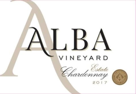 Alba Vineyard & Winery Chardonnay 2017 Front Label