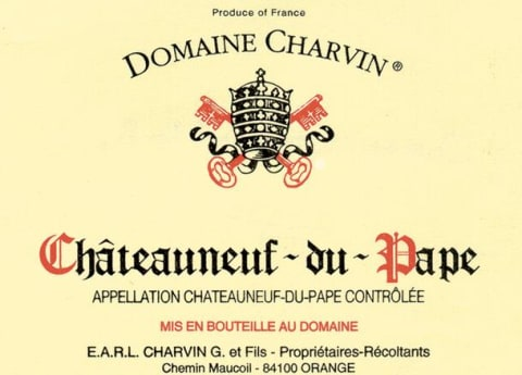 Domaine Charvin Chateauneuf-du-Pape 2016 Front Label