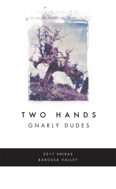 Two Hands Gnarly Dudes Shiraz 2017  Front Label