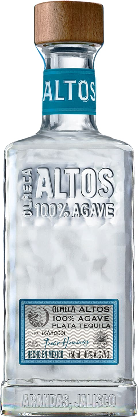 Olmeca Altos Plata Tequila  Front Bottle Shot
