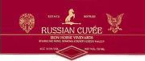 Iron Horse Russian Cuvee 1995 Front Label