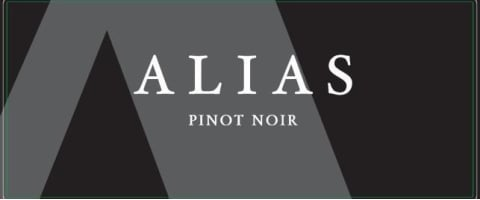 Alias Winery Pinot Noir 2016 Front Label
