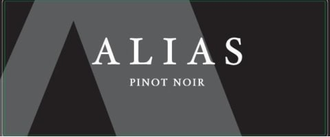 Alias Winery Pinot Noir 2018  Front Label