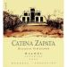 Catena Zapata Nicasia Vineyard Malbec 2005 Front Label