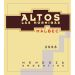 Altos las Hormigas Malbec 2008 Front Label